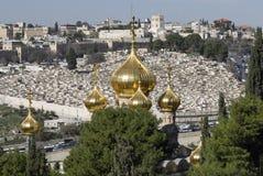 Chiesa ortodossa russa di Mary Magdalene santa Immagine Stock Libera da Diritti