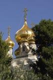 Chiesa ortodossa russa di Mary Magdalene santa Fotografie Stock