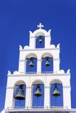 Chiesa ortodossa in Santorini Immagini Stock Libere da Diritti