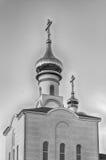 Chiesa ortodossa tradizionale a Frunze, piccolo villaggio in Crimea fotografie stock libere da diritti