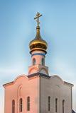Chiesa ortodossa tradizionale a Frunze, piccolo villaggio in Crimea fotografia stock