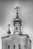 Chiesa ortodossa tradizionale a Frunze, piccolo villaggio in Crimea fotografie stock