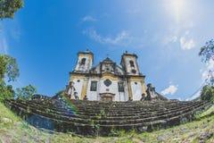 Chiesa in Ouro Preto, Minas Gerais, Brasile fotografia stock