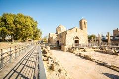 Chiesa in Pafo, Cipro di chrysopolitissa di kyriaki di Ayia fotografia stock