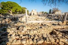 Chiesa in Pafo, Cipro di chrysopolitissa di kyriaki di Ayia immagini stock
