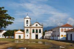 Chiesa in Paraty, stato Rio de Janeiro, Brasile Immagini Stock Libere da Diritti