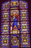 Chiesa Parigi Francia dell'en L'ile della st Isabelle Stained Glass Saint Louis Immagini Stock