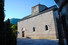 Chiesa pittoresca nel Montenegro Fotografie Stock Libere da Diritti
