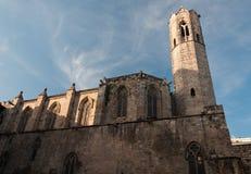 Chiesa in Plaça del Rei Fotografia Stock Libera da Diritti