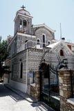 Chiesa in pyrgi, Grecia Fotografia Stock