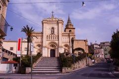 Chiesa Reale Abbazia di San Filippo d'Agira. View of Chiesa Reale Abbazia di San Filippo d'Agira or Chiesa di Santa Maria Latina, Sicily Royalty Free Stock Photography