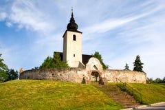 Chiesa riformata nel lago Balaton Fotografie Stock Libere da Diritti