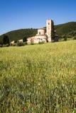 Chiesa romanica antica della basilica Immagini Stock Libere da Diritti