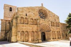 Chiesa romanica di Santo Domingo, di Soria, della Castiglia e di Leon, stazione termale Fotografia Stock Libera da Diritti