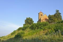 Chiesa romanica di St Giles in Inowlodz Fotografia Stock
