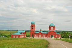 Chiesa rossa Fotografie Stock