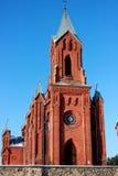 Chiesa rossa Fotografia Stock
