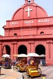 Chiesa rossa di Cristo nel Malacca Immagine Stock