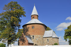 Chiesa rotonda di Bjernede fotografia stock
