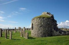 Chiesa rotonda a Orphir, Orkney, Scozia Fotografie Stock Libere da Diritti