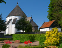 Chiesa rotonda, Osterlars, Bornholm fotografia stock