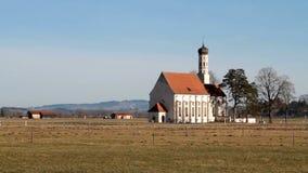 Chiesa rurale stock footage