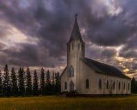 Chiesa rurale in autunno Fotografia Stock Libera da Diritti