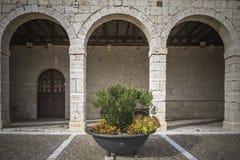 Chiesa rurale del portico Fotografie Stock Libere da Diritti
