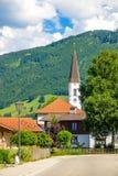 Chiesa rurale nelle alpi Fotografie Stock