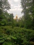 Chiesa russa in natura pura fotografia stock