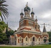 Chiesa russa in Nizza Fotografie Stock Libere da Diritti