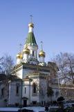 Chiesa russa a Sofia Fotografia Stock