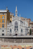 Chiesa Sacro Cuore del Suffragio and other buildings along the R Stock Photos