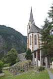Chiesa Saint-Vincent di pellegrinaggio in Heiligenblut Immagini Stock Libere da Diritti