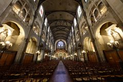 Chiesa San-Augustin - Parigi fotografia stock libera da diritti