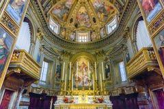 Chiesa San Marcello al Corso Altar Basilica Church Rome Italien Royaltyfri Bild