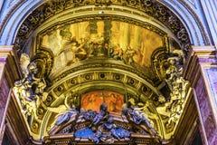 Chiesa San Marcello al Corso Arch Basilica Church Rome Italy. Chiesa San Marcello al Corso Arch Frescoes Basilica Church Rome Italy. Built in 309, rebuilt in Stock Photos
