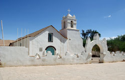 Chiesa San Pedro de Atacama - nel Cile Immagini Stock