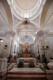 Chiesa San Vicente en la isla de Stromboli Foto de archivo libre de regalías