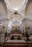 Chiesa San Vincenzo på den Stromboli ön Royaltyfri Foto