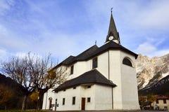 Chiesa San Vito di cadoro Immagini Stock