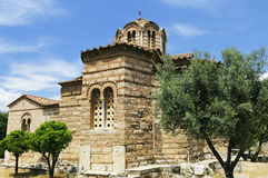 Chiesa santa degli apostoli a Atene, Grecia Fotografia Stock