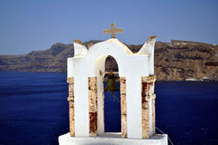 Chiesa in Santorini fotografia stock libera da diritti
