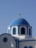 Chiesa in Santorini Grecia Fotografia Stock Libera da Diritti