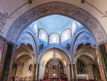 Chiesa Santorini Grecia Fotografia Stock Libera da Diritti