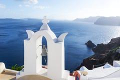 Chiesa in Santorini, Grecia Fotografie Stock Libere da Diritti
