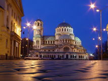 Chiesa in sera Immagini Stock Libere da Diritti