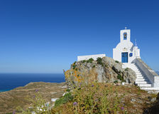 Chiesa in Serifo, Cicladi, greche Fotografia Stock Libera da Diritti