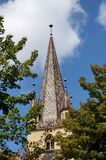 Chiesa Sibiu Romania - torre di Evanghelical Immagine Stock Libera da Diritti