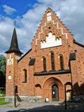 Chiesa in Sigtuna (Svezia) Fotografie Stock Libere da Diritti